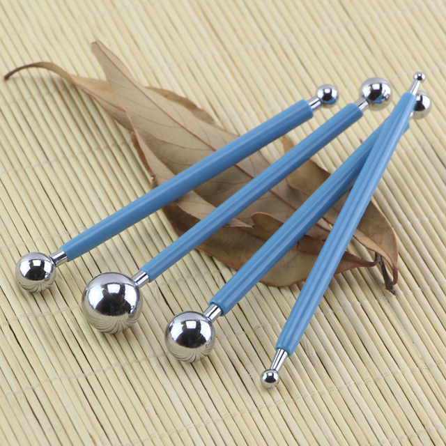 Stainless steel ball flower modeling fondant cake decorating tools