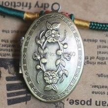 10 шт. 26 x 37 x 9 мм медь античная бронзовая овальная подвеска в европейском стиле молитва ремесло фоторамка медальон Box DIY ожерелья аксессуары