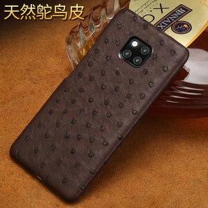 Image 3 - אמיתי יען עור טלפון מקרה עבור Huawei P30 לייט P20 P40 פרו mate 20 Nova 5t P40 Lite Mate 20 lite P20 Lite P30 Pro Y9 Y7 P SMART 2019 לייט Y7 יוקרה חזרה כיסוי עבור כבוד 8X 20 פרו 10 20i