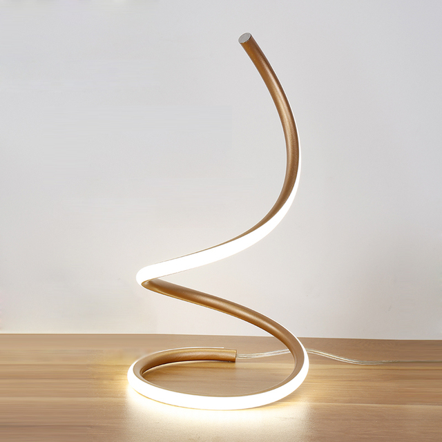 Modern Minimalist Art Led Table Lamps EU/US Plug Fashion Wedding Bedroom  LED Desk Lamp