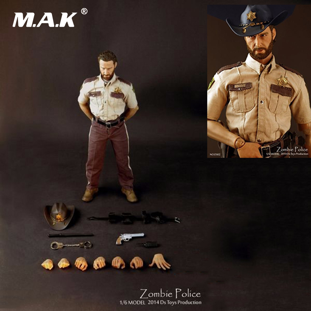 1/6 Scale Full Set Walking Dead Man Zombie Police Man Action Figure Collectible Doll Toys Model Collection Gift 1 6 scale ancient figure doll gerard butler sparta 300 king leonidas 12 action figures doll collectible model plastic toys