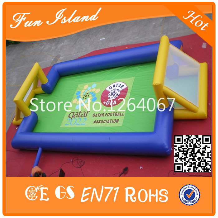 Cheap giant football field inflatable soccer arena for sale sea shipping giant commercial inflatable kids soccer court football field with blowers