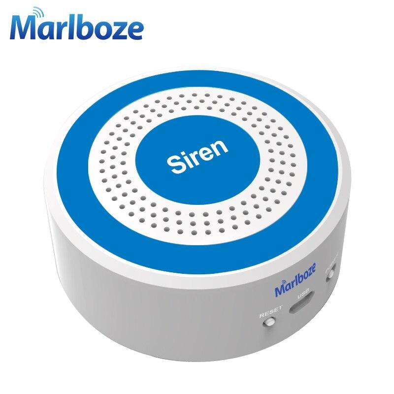 Marlboze 433mhz Wireless Sound And Light Siren 100dB Strobe Siren For PG103 PG168 Home Security WIFI