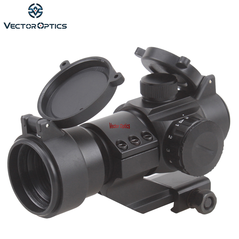 цены Free Shipping Vector Optics 1x28 Red Dot Sight Scope with Honeycomb Sunshade Cantilever Weaver Mount AR15 M4 AK Weapon Sight