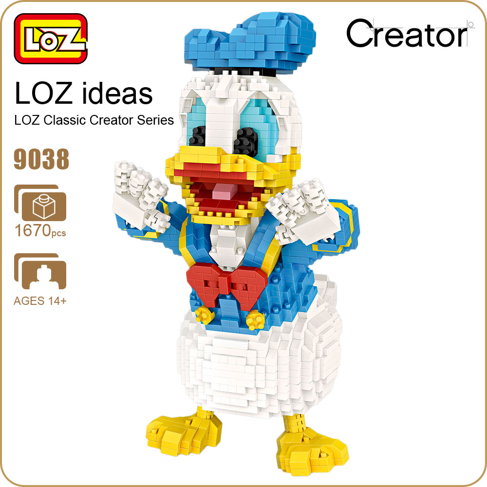 LOZ Micro Blocks Cute Cartoon Animal Action Figure Anime Diamond Building Blocks Plastic Assembly Toys Children Educational 9038