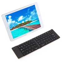 F66 Multiple Mini Portable Folding Wireless Bluetooth 3 0 Keyboard Aluminum Cover For IOS Android Windows