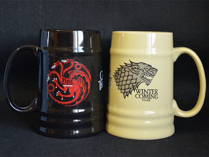 New Ceramic Stark Beer Stein Coffee Mug Cup Of Game of Thrones Winter is Coming Stark Fire Blood