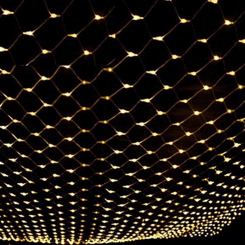 1set  4mx6m 8 Modes EU Plug 220V 240V Net Mesh String Light Xmas Christmas New Year Garden Lawn Wedding Holiday Lamp