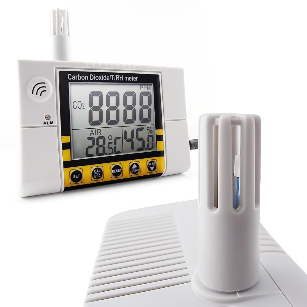 Digital Wall Mount Indoor Air Quality Temperature RH Carbon Dioxide CO2 Meter Sensor Detector 0 2000ppm