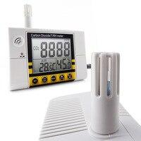 Цифровой настенное крепление качество воздуха в помещении температура RH углекислого газа CO2 метр сенсор детектор 0 ~ 2000ppm диапазон
