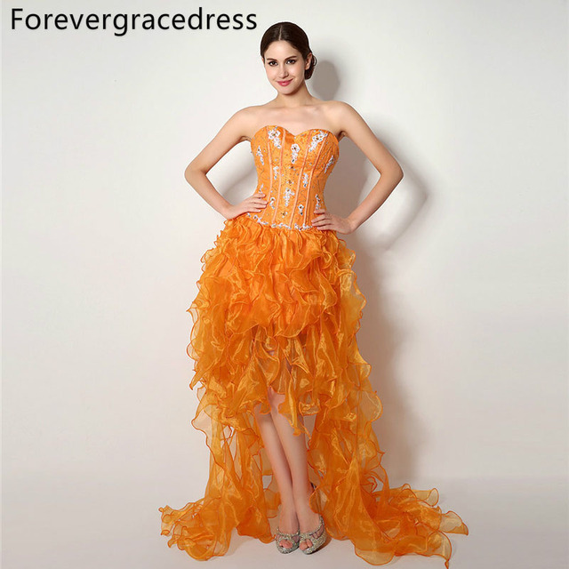 Aliexpress Buy Forevergracedress Real Photos Sexy Orange Color