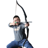 30 50lbs Black Take Down Recurve Hunting Bow Aluminum Archery Riser Hunter Target Catapult Wood/fiberglass Limbs with Bow Bag