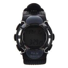 Wholesale5pcs * Новая горячая распродажа черные спортивные импульсный пульса Счетчик калорий Часы с Мониторы