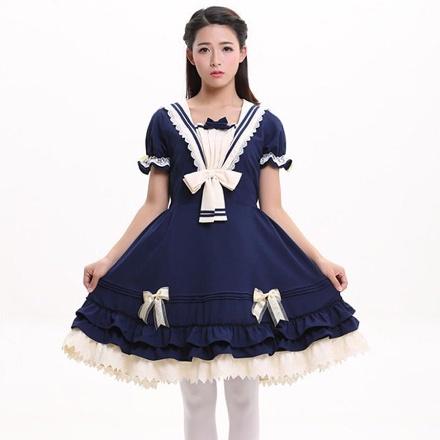 Nyári nők pamut Vintage lolita ruha Női gótikus főiskola - Női ruházat