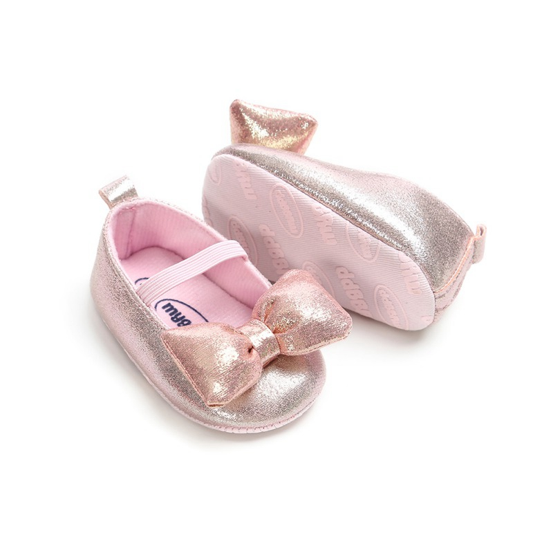Baby Girls Shoes Toddler Infant First Walkers For Newborn Autumn Soft Sole Non-Slip Bowknot PU Shoes Sneakers For Girls