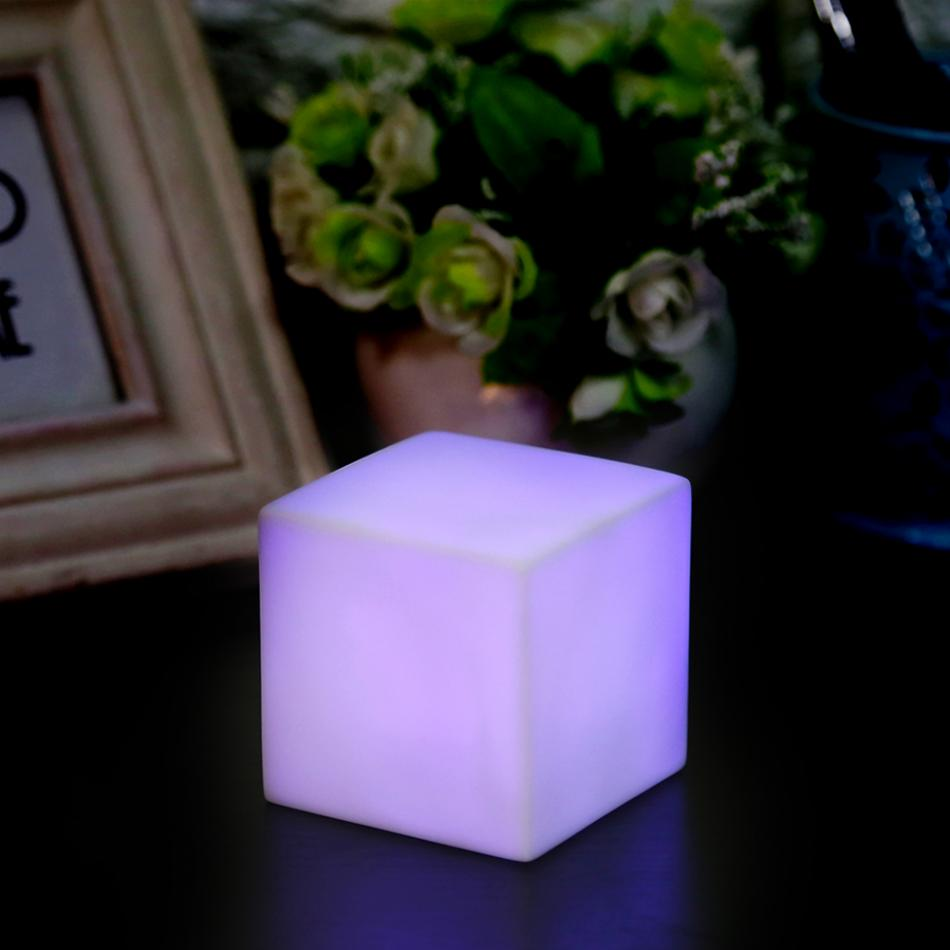 Color Changing LED Mood Night Light Cube Night Light Table Lamp Home Party Children Bedroom Decoration in LED Night Lights from Lights Lighting