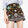 2017 faldas Bordadas viento nacional Bohemio render falda minifalda