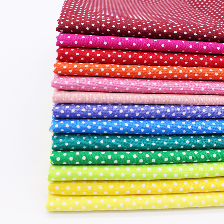 Dot cotton fabric sewing tilda fabrics for patchwork for Sewing fabric
