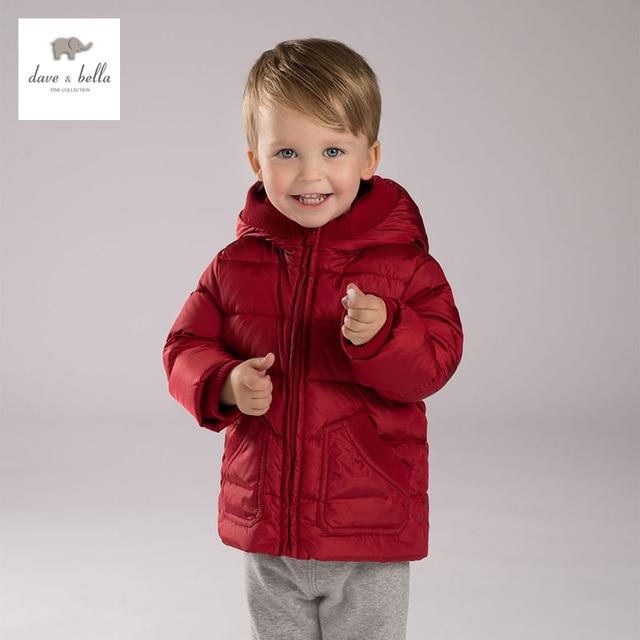 DB3898 DAVEBELLA baby boy padded down  jacket children red  outerwear kids clothes