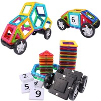 New AMOSTING Magnetic Tiles Building Block Magnet Stacking Toy Set 46pcs
