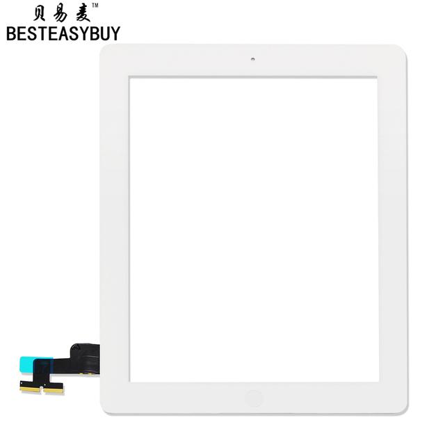 Besyeasybuy para ipad 2 digitador da tela de toque a1395 a1396 digitador touch com botão home adesivo livre fita ferramentas de abertura