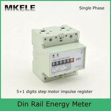 Цифры мотор шага импульс регистрация MK-LEM011AG однофазный din-рейку кВтч Ватт час din-рейку счетчик энергии ЖК-дисплей