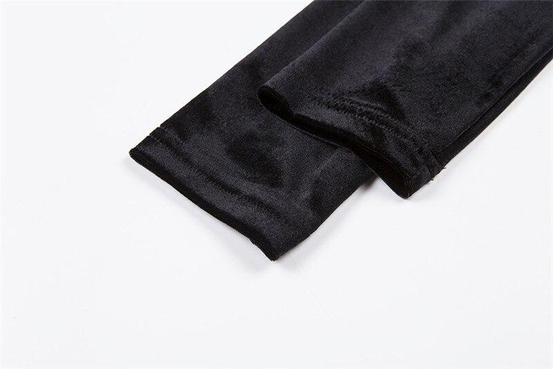Summer Velvet Dress Women Retro Harajuku Sexy Black Long Sleeve Halter Dress 9