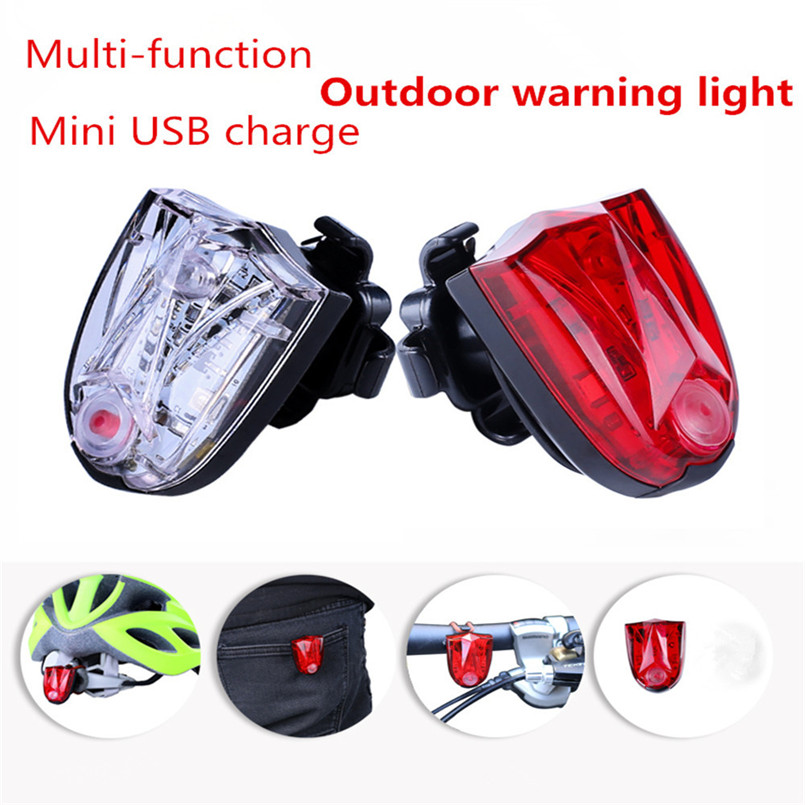 LED Bike Light Rear USB Rechargeable Bicycle Light Taillight Mountain Bicycle Tail Light Cycling Flash Lights Bike Lamp 30ST08