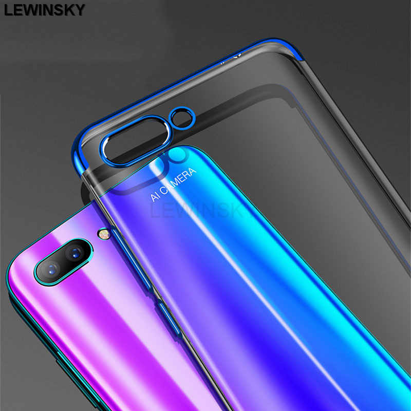 Luxury Plating Silicone Case For Huawei P10 Mate 10 20 lite Nova 3 3i P Smart Case On Honor 8X 7A Pro 9 lite 8 7C view 10 Play