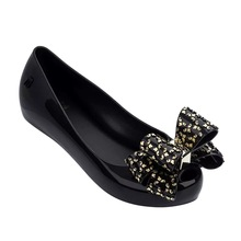 Women Melissa Sandals 2019 New SummerJ elly Shoes Casual Flat Fashion Butterfly-knot For Size 35-39