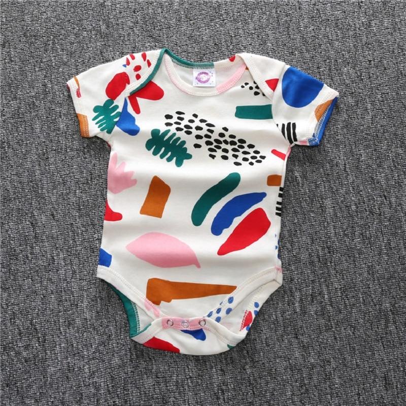 b94b8e921eb Bobo Choses Body Matisse watermelon Romper Baby Boys Girls Printed Summer  Triangle Romper Short Sleeved