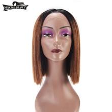 TANZEN SCHÖNHEIT Vorgefärbt Brasilianische Gerade Lace Front Perücken für Frauen 100% Menschenhaar Perücken Nicht Remy Mittelteil OT30 Farbe