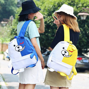 Image 5 - Anime Danganronpa Dangan Ronpa Monokuma Nylon sac à dos grande capacité étudiant sac décole Mochila Feminina voyage sac à dos
