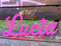 violet sign shelf sitter or wall hanging choice of colors wedding decoration letters Wedding props   Free Shipping