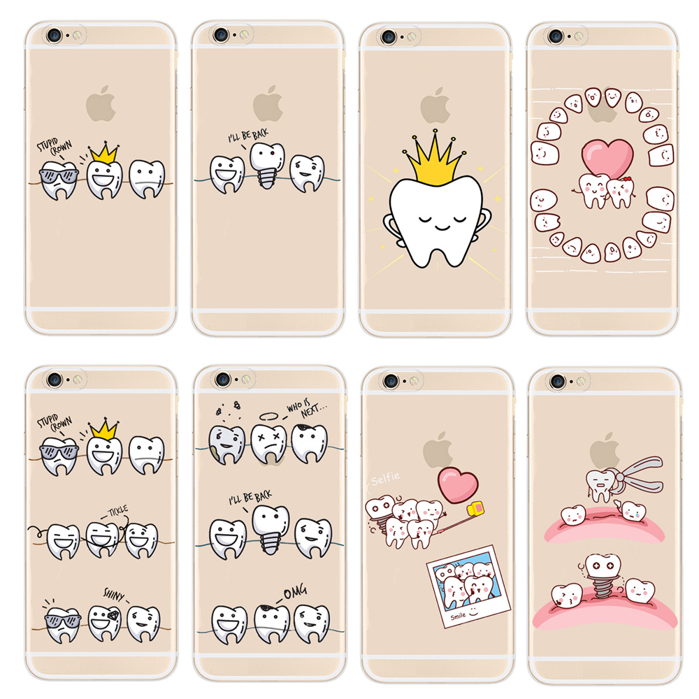 custodia iphone denti