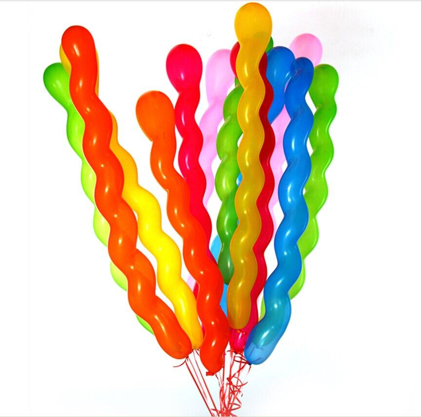Rood 20 Stuks Lange Schroefdraad Latex Ballon Zweven Lucht Ballen Opblaasbare Bruiloft Birthday Party Ballon Decoratie Globos Speelgoed 5z