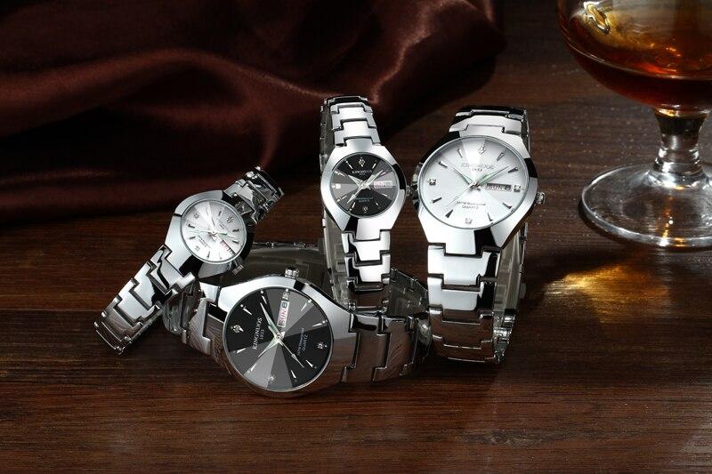 Montre de couple à Quartz bracelet alliage