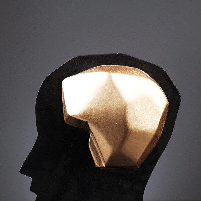 Semplice e moderno creativo cervello del foro di grandi dimensioni aperto mestieri della resina set casa porta creativo pattern room set regali di decorazione della casa - 5