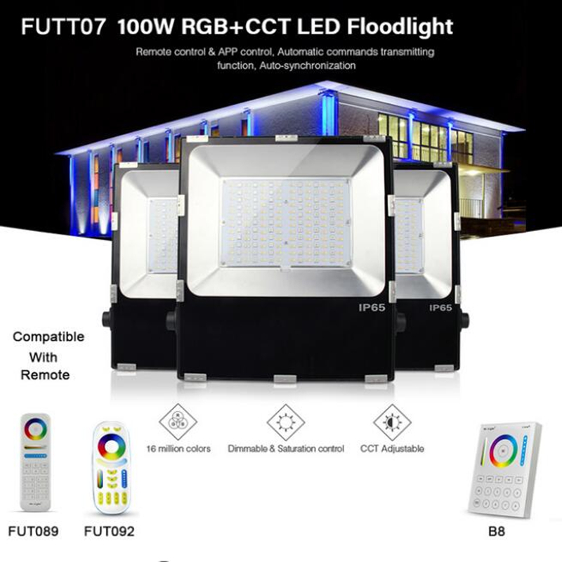 Milight Fut069 15w Led Ceiling Rgb+cct Round Spotlight Ac100-240v Compatiable With Fut089/fut092 Indoor Led Smart Panel Remote Lights & Lighting