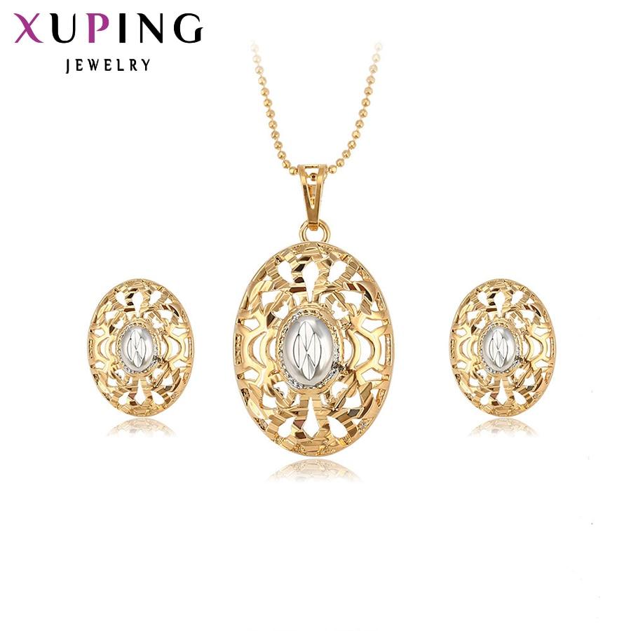 Xuping divat szett 2017 új érkezés charm női arany színezett kiváló minőségű fél ékszer szettek S26,3-63343