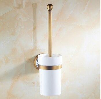 Fashion Bathroom Accessories, Antique bronze finish Toilet Brush Holder With Cup& Creative Ceramics Design,toilet cleaning brush