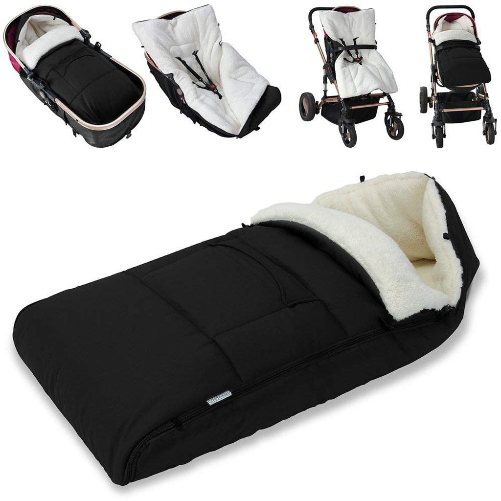 Детская коляска, спальный мешок, конверт для коляски, теплый толстый спальный мешок, универсальная муфта для ног, удобный фартук для коляски-in Спальники from Мать и ребенок