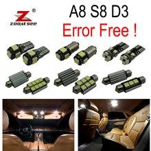 25 шт. X Canbus Error Free светодиодные лампы внутреннего освещения верхнее освещение комплект посылка для Audi A8 S8 D3(2003-2009