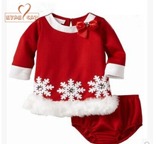 NYAN CAT Baby girl clothes infant toddler christmas x'mas snowflake dress+shorts 2pcs set outfit jumpsuit costume party clothing