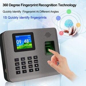 Image 2 - 2.4 אינץ RFID TCP/IP/USB טביעות אצבע ביומטרי זמן נוכחות מכונה טביעות אצבע זמן שעון מקליט הכרה עובד