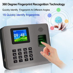Image 2 - 2.4 بوصة تتفاعل tcp/ip/USB البيومترية بصمة آلة الحضور الوقت فنجر طباعة الوقت على مدار الساعة مسجل التعرف على الموظف