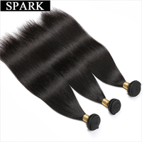 Spark Brazilian Virgin Hair Straight 3 Bundles Deal 100% Unprocessed Human Hair Weave 8 30 inches Dyeable&Bleachable Extensions