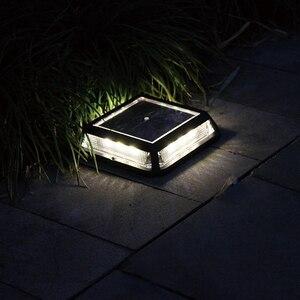 Светодиодный садовый светильник на солнечной батарее, уличное освещение, Уличный настенный светильник, водонепроницаемый, для лестницы, дл...