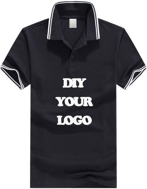 100% 180g de algodón piqué polo de los hombres de impresión logotipo personalizado polos camisas embroiderey diseño propio LOGOTIPO de la solapa de ajuste a corto manga