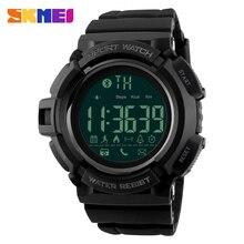 SKMEI Hommes De Luxe de Montres Podomètre 50 M Robe De Bain Top Sport Montre Hommes Bluetooth Sommeil Tracker Numérique Montres Horloge 1245